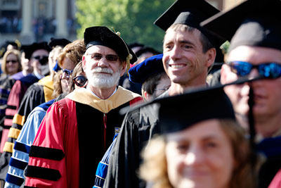 Faculty during Commencement
